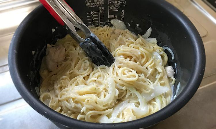 炊飯器パスタ