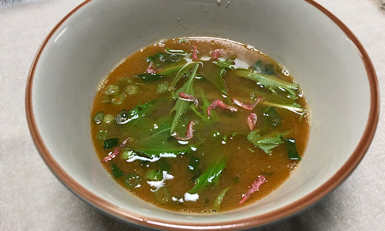 干しエビで作る「海老出汁濃厚つけ麺」