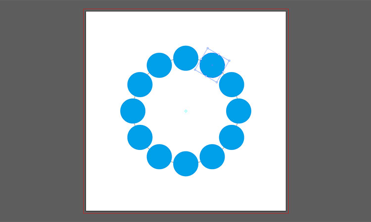 Illustrator 円状 配置