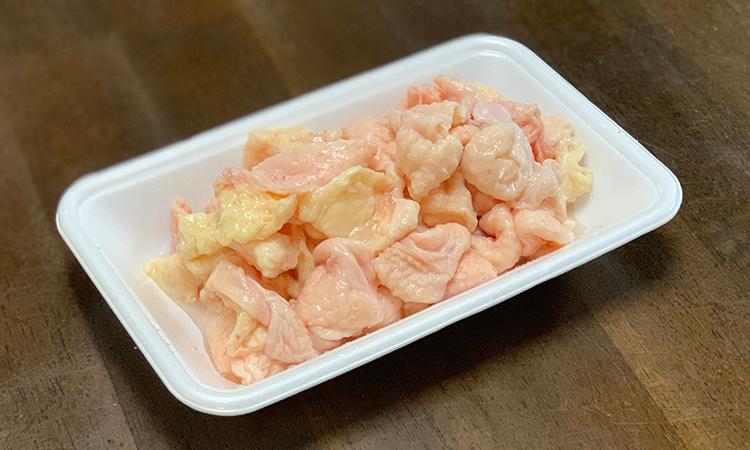 鶏白湯塩ラーメン 鶏皮