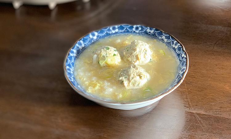 鶏白湯塩雑炊