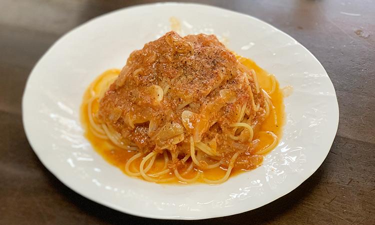 海老トマトつけ麺 パスタ