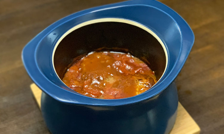 蓄熱調理 煮込みハンバーグ