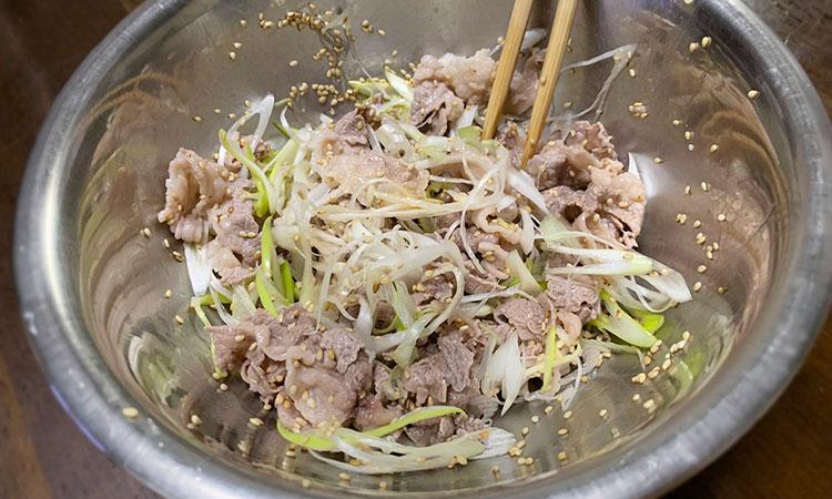 牛肉のピリ辛つけそば 作り方