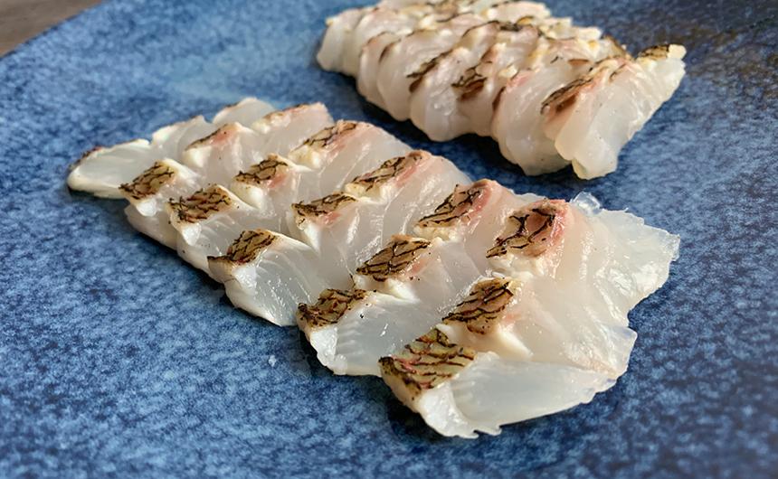熟成真鯛の炙り