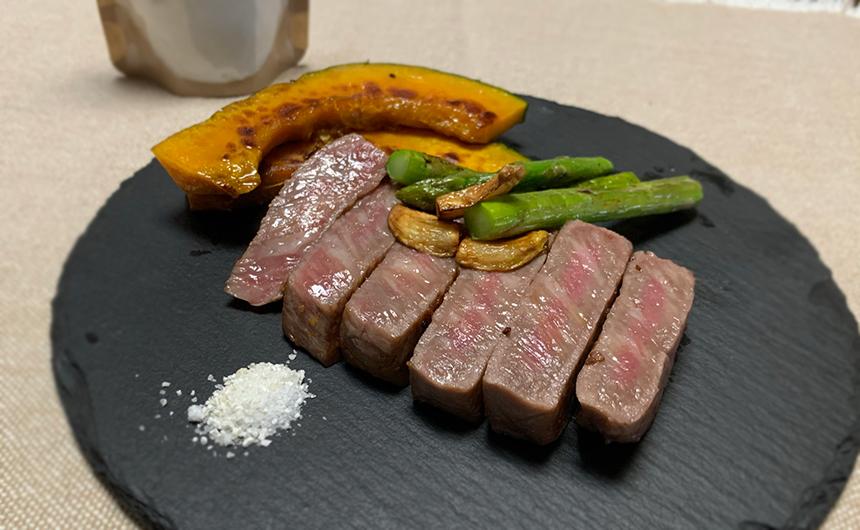 飛騨牛のステーキ 麹ソルト