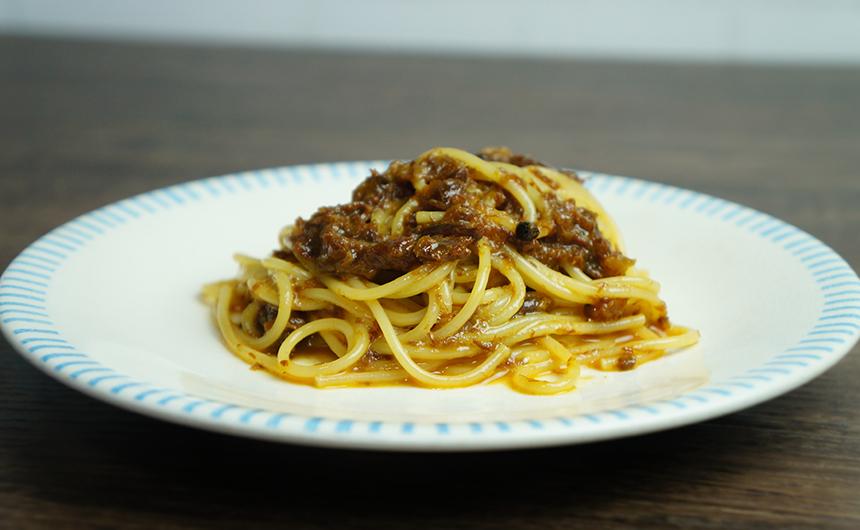 牛肉のしぐれ煮パスタ